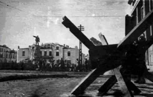 Театральная площадь Владикавказ осенью 1942 года