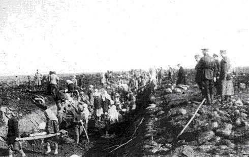 строительстве оборонительных укреплений у г.Орджоникидзе (Владикавказ)